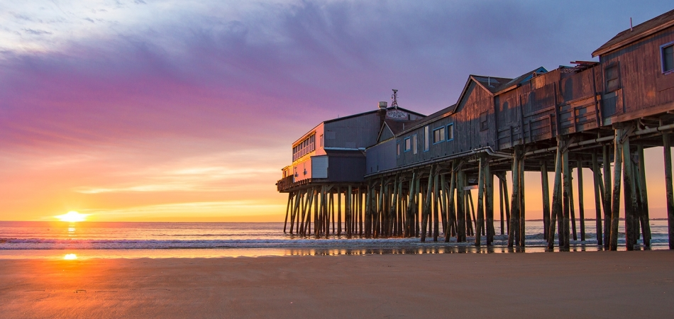 The Old Orchard Beach Pier at Sunset