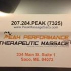 Peak Performance Therapeutic Massage, 334 Main St Apt 1, Saco , ME